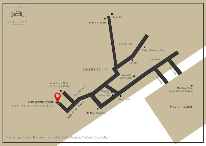 Cebu city skyhill Poolvilla 세부 스카이힐 풀빌라