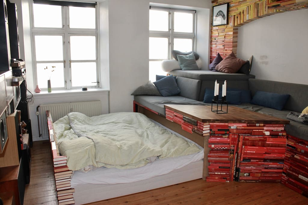 Draw out double bed
