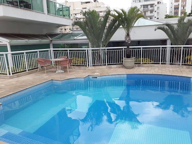 Flat no hotel Quality Suítes Botafogo