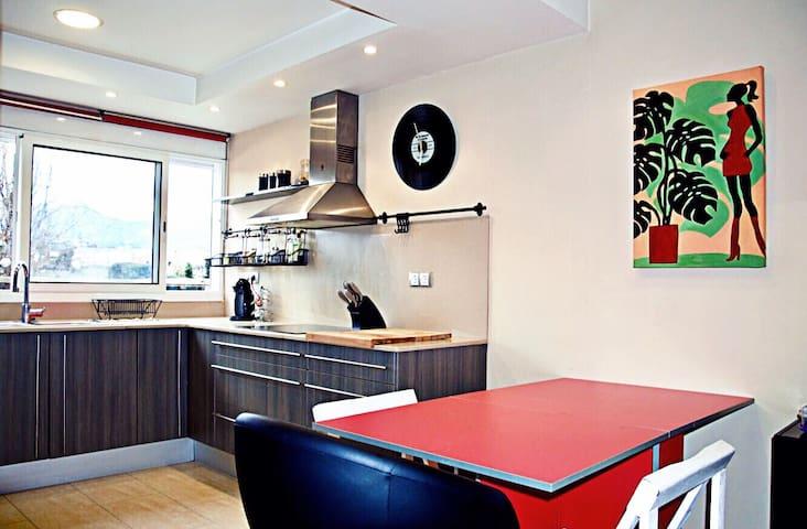 Apartamento cerca de Barcelona, playa y tren