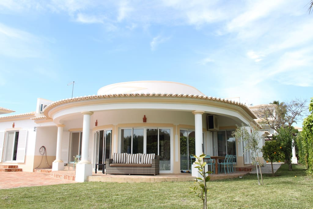Great spaces around the villa with garden & pool area. (Pool is not secured for little children)