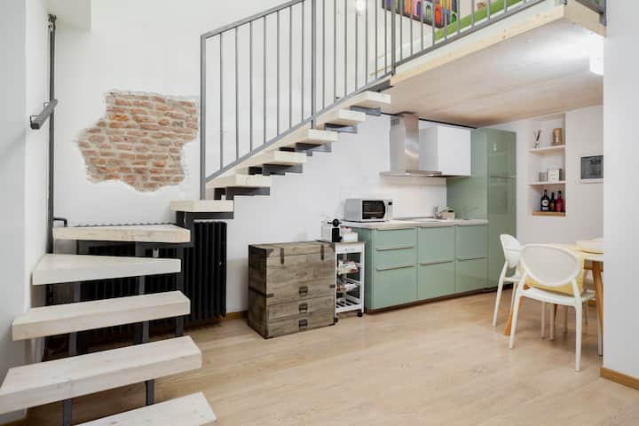 New and cozy loft on Navigli