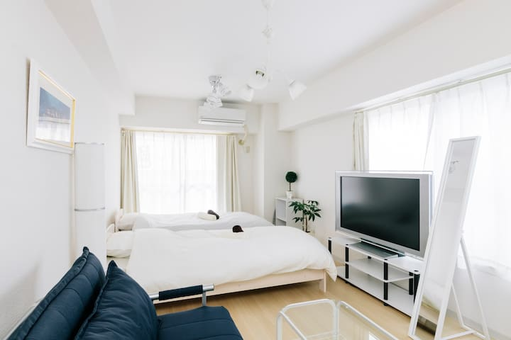 Cozy 1K Apt. w Wifi. Only 2 stops to Shinjuku Sta! - Shinjuku-ku - Apartament
