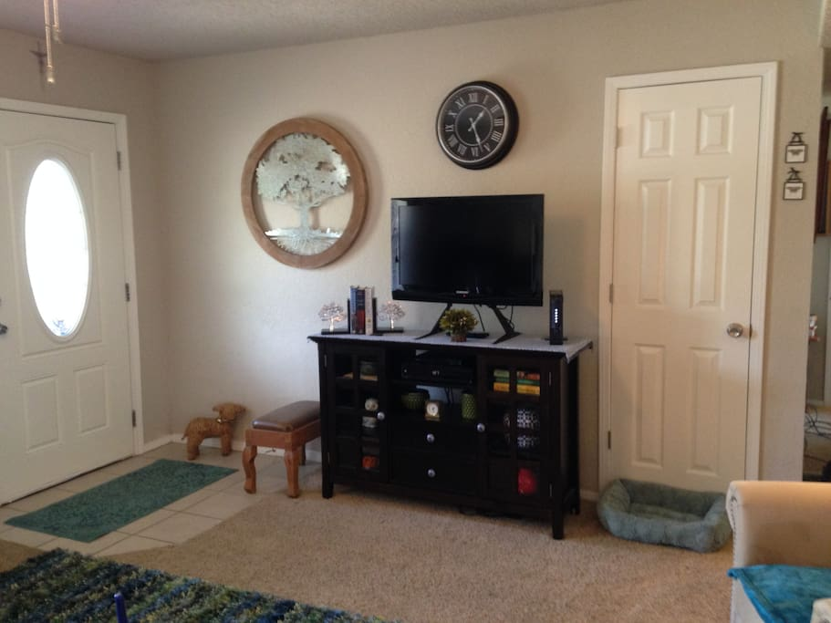 Television is in the shared living room