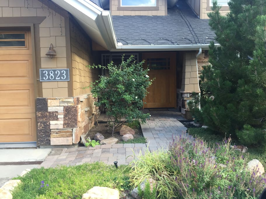 This is the entrance to the house (right side is the front door)