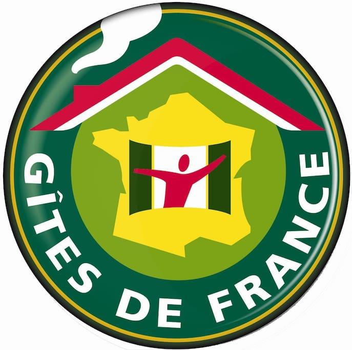 """Les deux logements sont labellisé """"GITES DE FRANCE"""" 3 épis"""