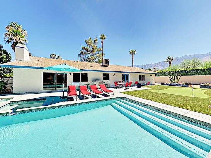 Posh South Palm Springs Pad, Pool & Spa