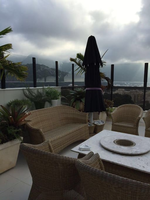 Private terrace with amazing view of Rio