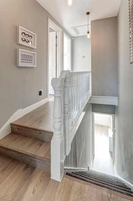 Nest Thermostat, cool lighting and a great entrance to the property.