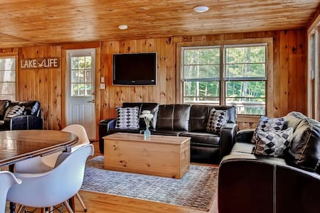 Wakefield Cottage: Private Dock on Pine River Pond