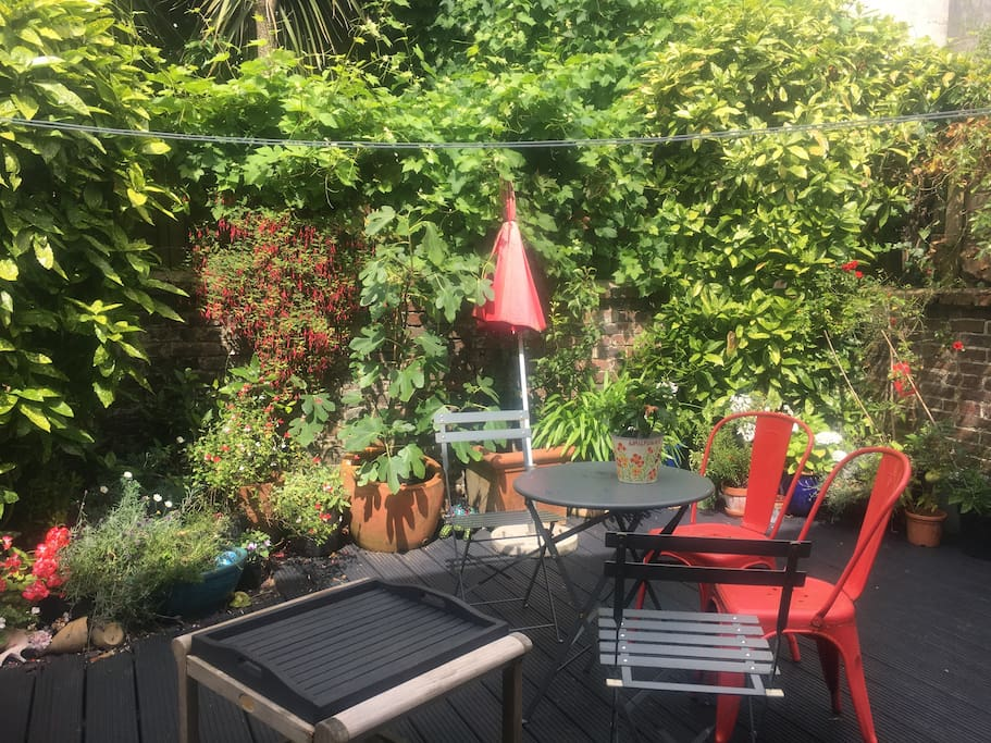 Secure and private courtyard garden