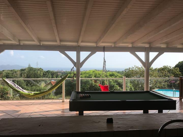 Villa sur les hauteurs de FDF avec vue panoramique