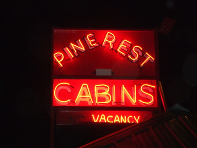 Look for the vintage neon.