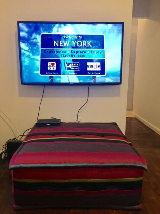 Full Cable and Wifi on big screen TV