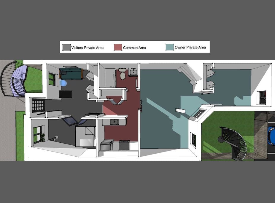 Architect plan of my place (you may see your private space, and shared spaces, ...)