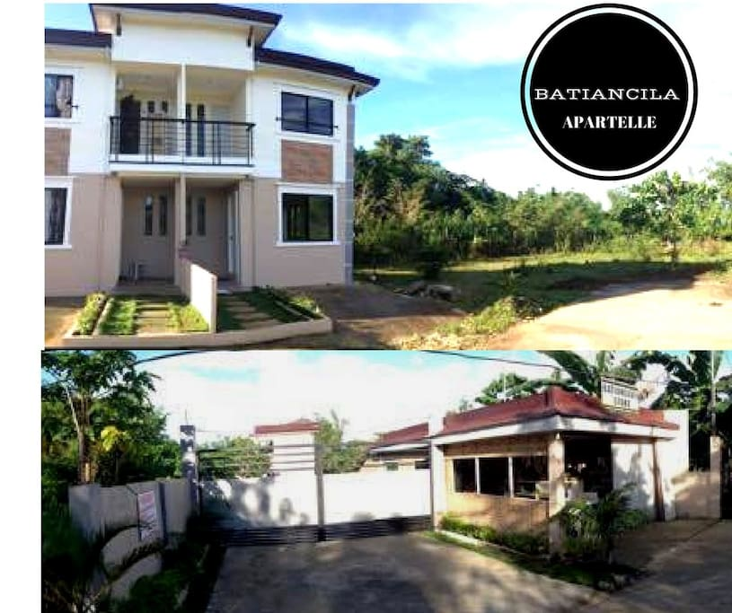 (1) duplex apartment. 2 apartments with different main doors. (2) small store and the main gate along the highway of Bantayan town.