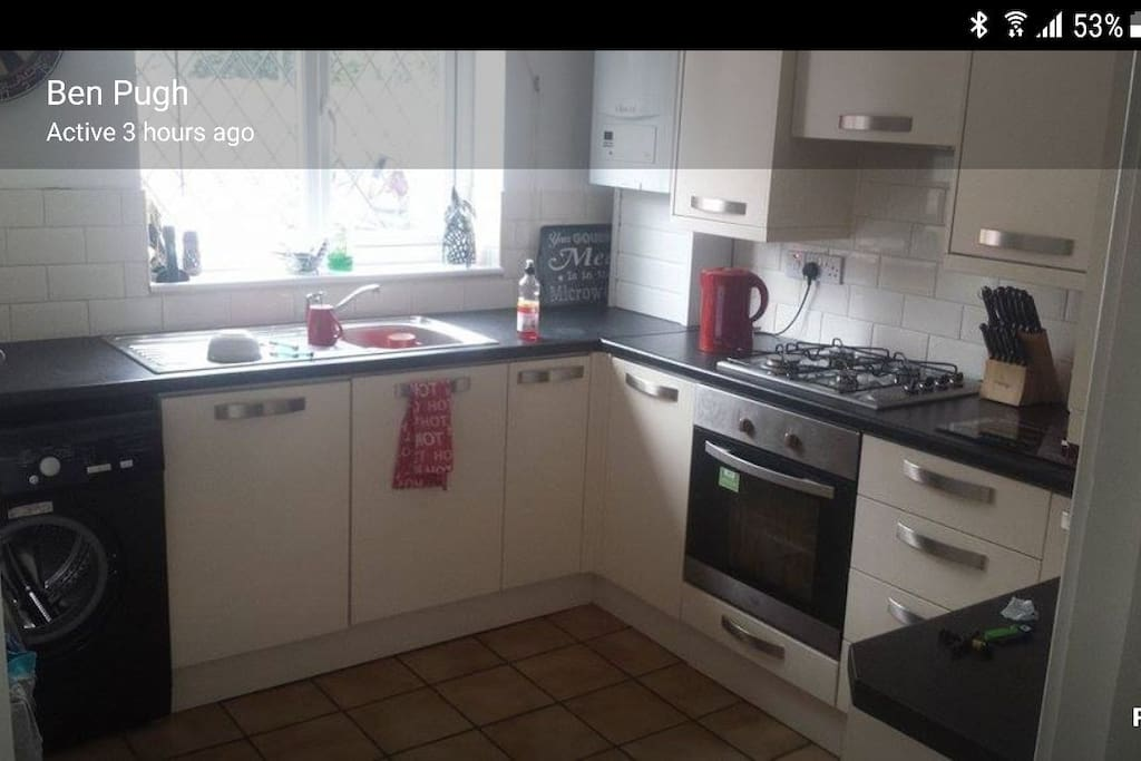 kitchen with everyday equipment available if needed