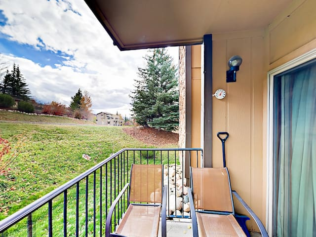 Breathe the crisp mountain air on your private balcony.