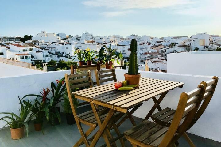 Suite con terraza y vistas en el casco histórico