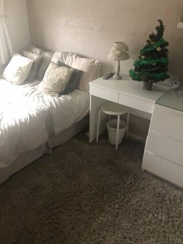 Smart, clean room to let in modern family home