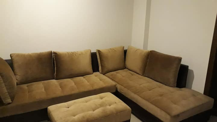 Fully independent furnished flat with essentials.