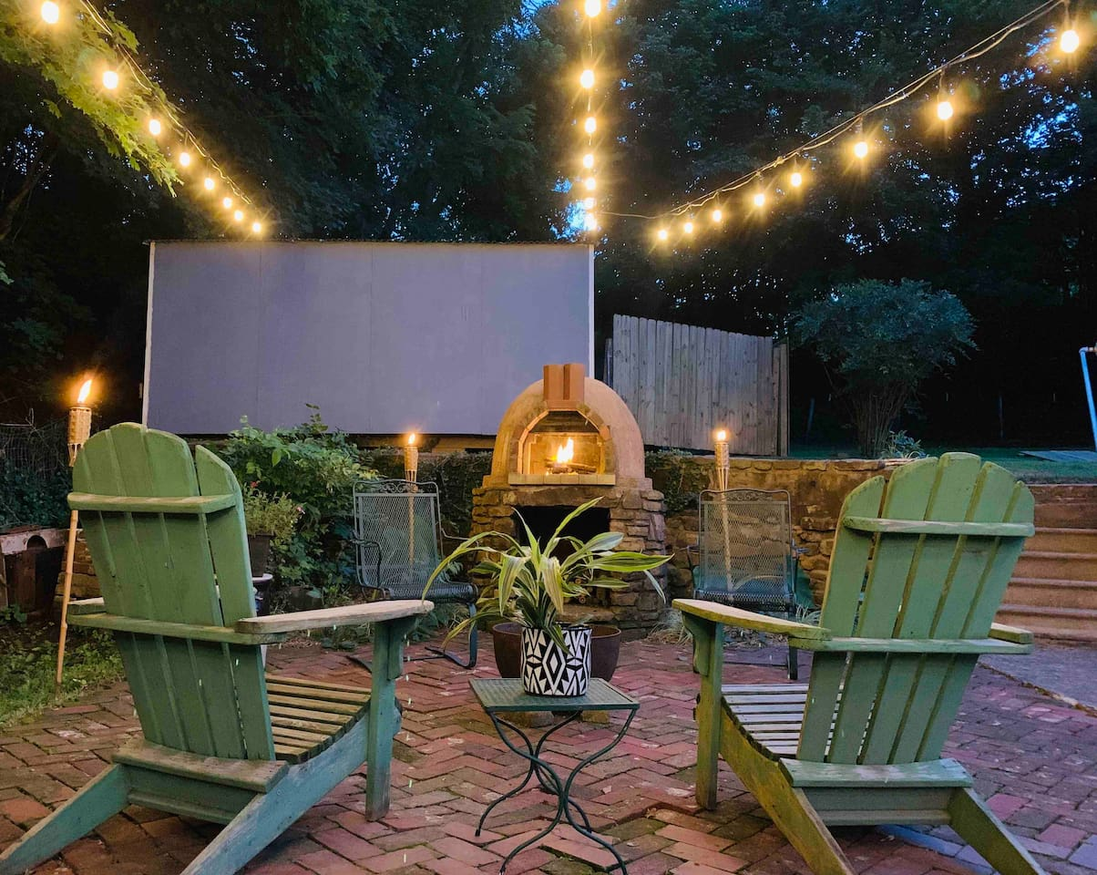 This is the perfect place to relax. The patio is covered with shade by day and wrapped in fire by night. You may never want to leave.