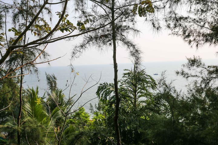 (SHANTIDHAM) CLEAN AND CALM SEA VIEW COTTAGES. - Gokarna - Guesthouse