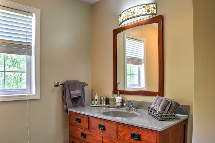 Rinse off before bed in the second full bathroom.