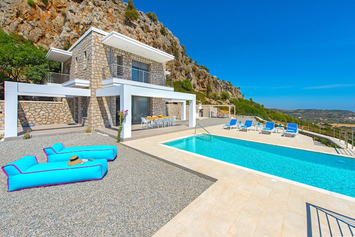 New luxury seaview villa in Rhodes.