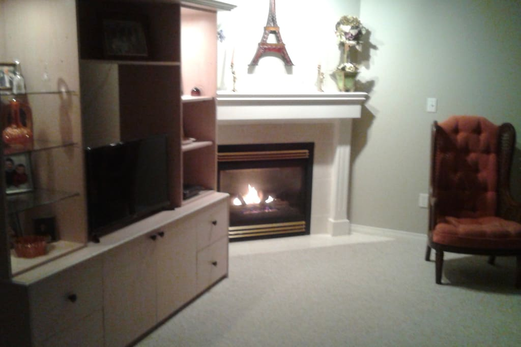 gas fireplace living area