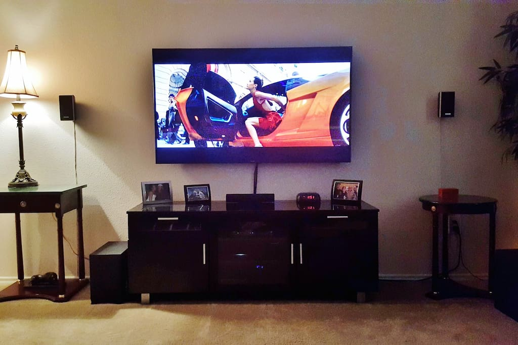 "60"" Smart 3D HDTV with full Surround Sound. Comes with 3D glasses."