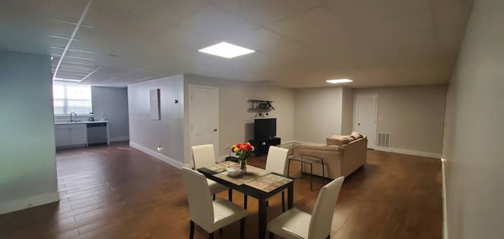 Newly and fully furnished basement apartment