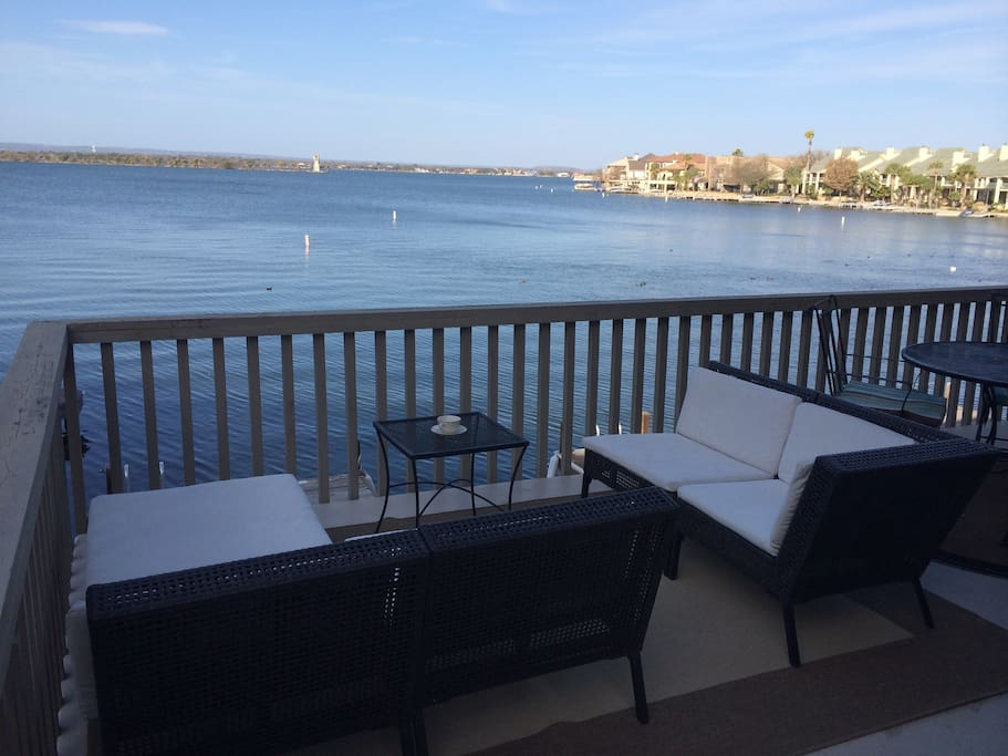 View from the upper patio with open water view of Lake LBJ
