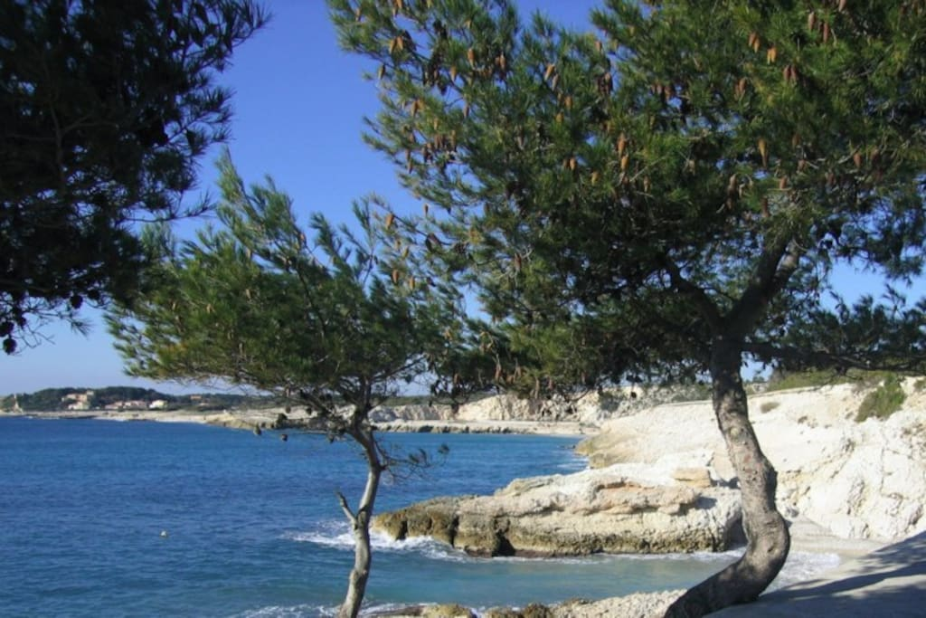 Mer turquoise et transparente à 2 minutes de la maison / Hidden coves with beautiful truquoise water at 2 minutes walk from the house