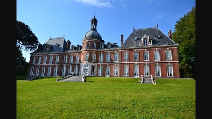 Chambre Rose Chateau Landin  Normandie