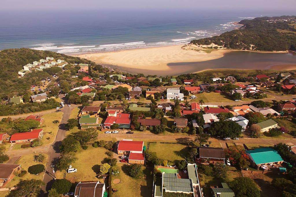 A Drone View of Chintsa East Beach & Lagoon