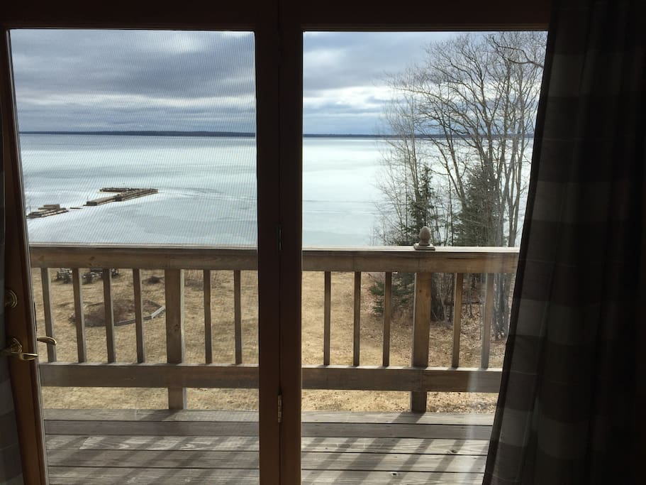 Lake Superior right outside the balcony