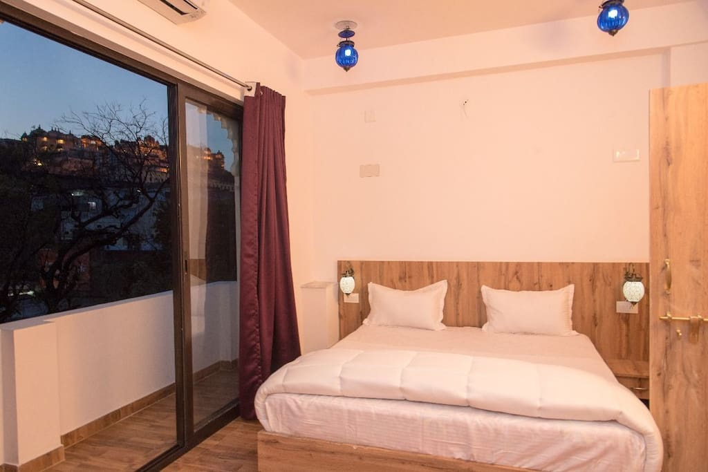 DOUBLE BED ROOM WITH BALCONY WITH PALACE VIEW