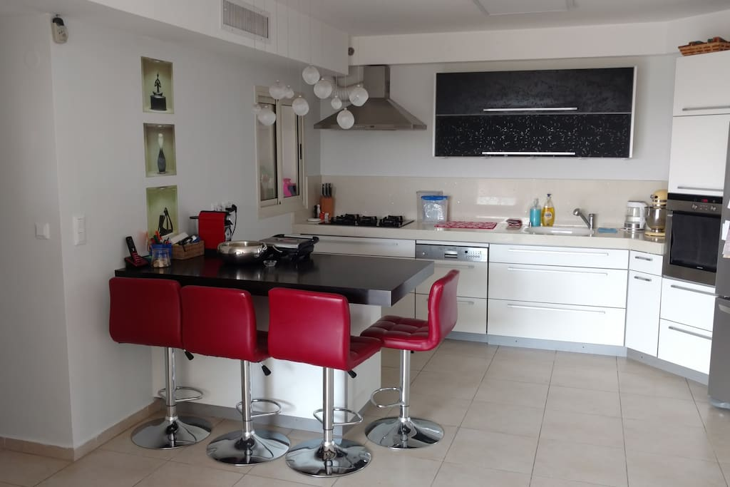 Kitchen and family dinning table