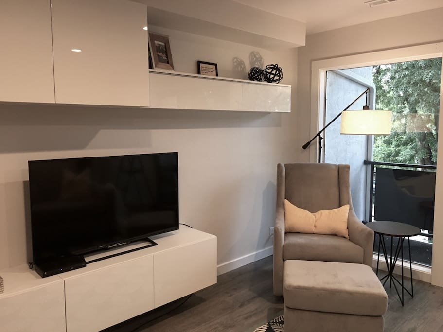 Brand new West Elm furniture and a SMART TV
