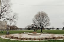 Erma Henderson Park directly across the street to the beautiful Detroit River!