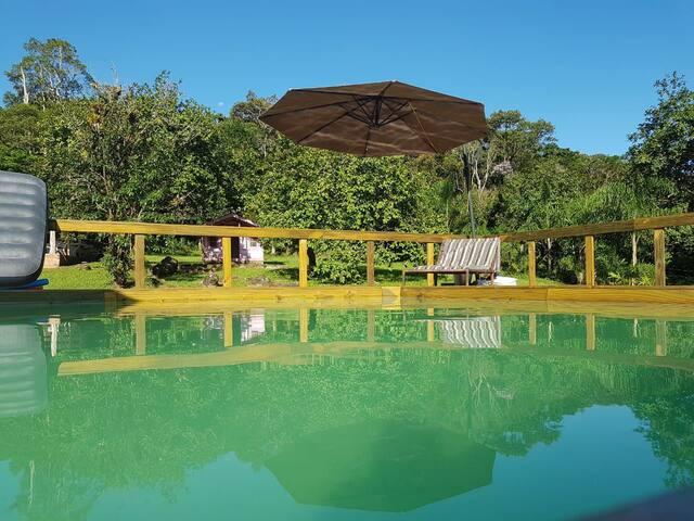 Chácara com piscina, rio , pesca, Boia Cros