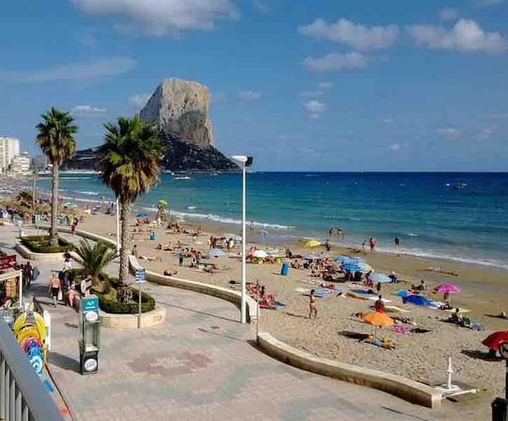 Calpe,bien ubicado, playa, moderno, centro,wifi,6h
