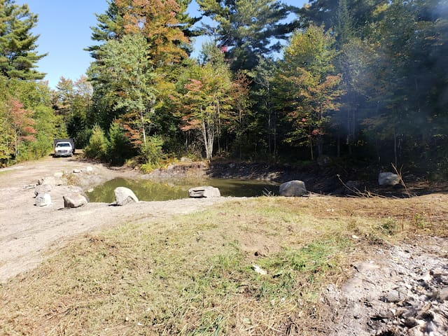 newly built Rv site for 4 campers and 8 tent sites