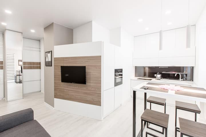 Stylish  white apartment, center Minsk