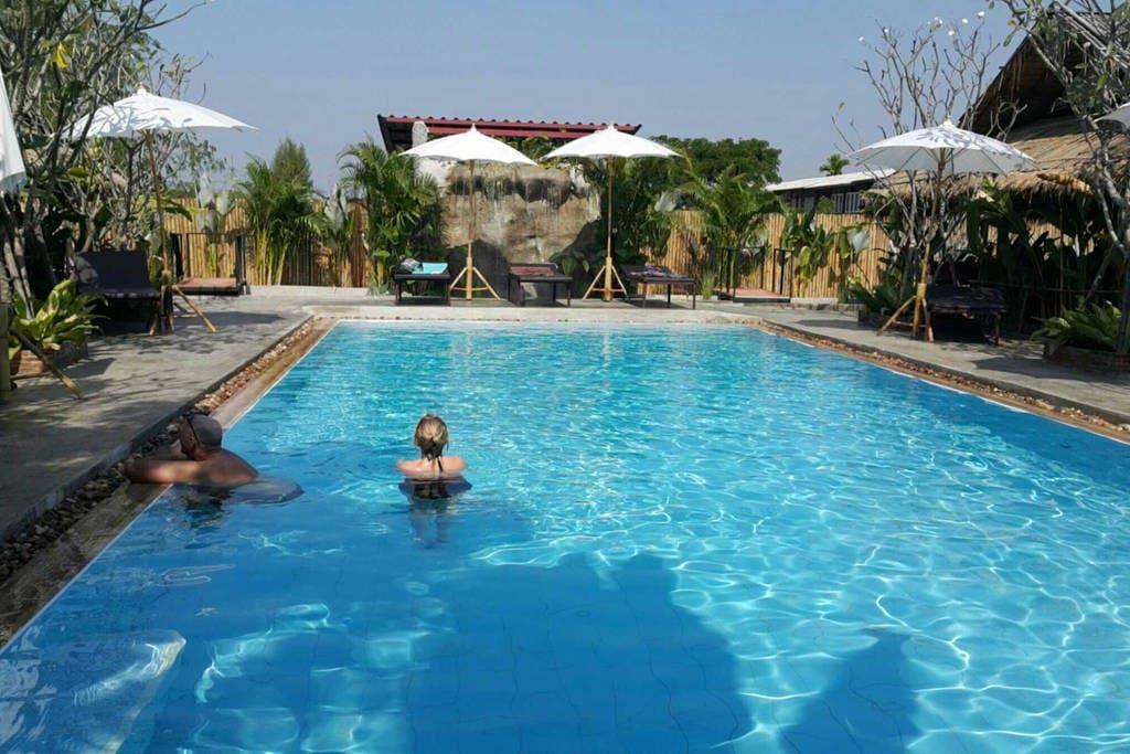 Large salt water pool