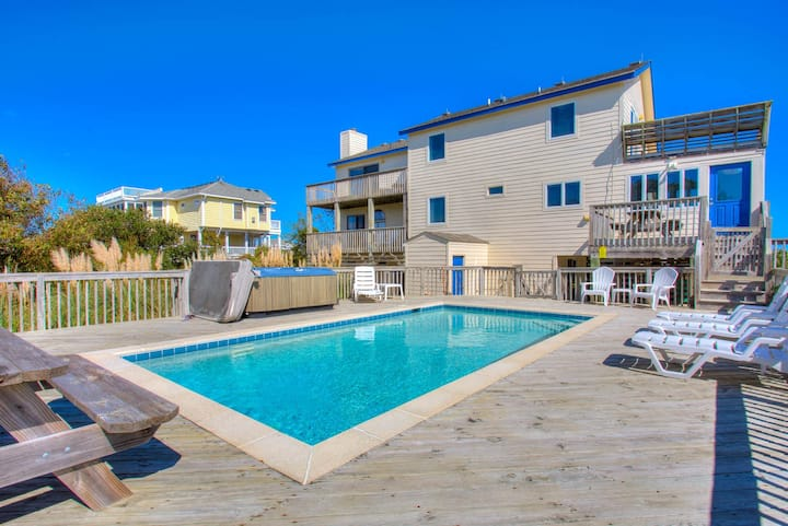1320 Ocean Dreams * 2 Min Walk to Beach * Pool & Hot Tub * Foosball Table