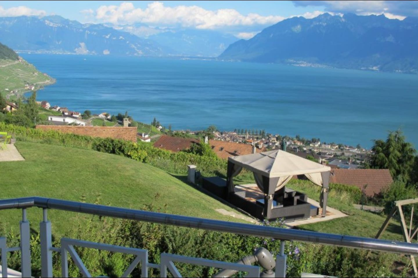 This is the panoramic lake view from the house first floor