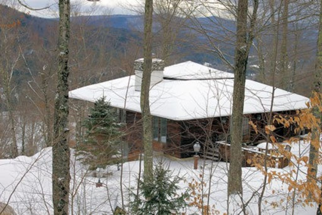 Luxury vermont mountain winter dates available cabins for Vermont mountain cabins