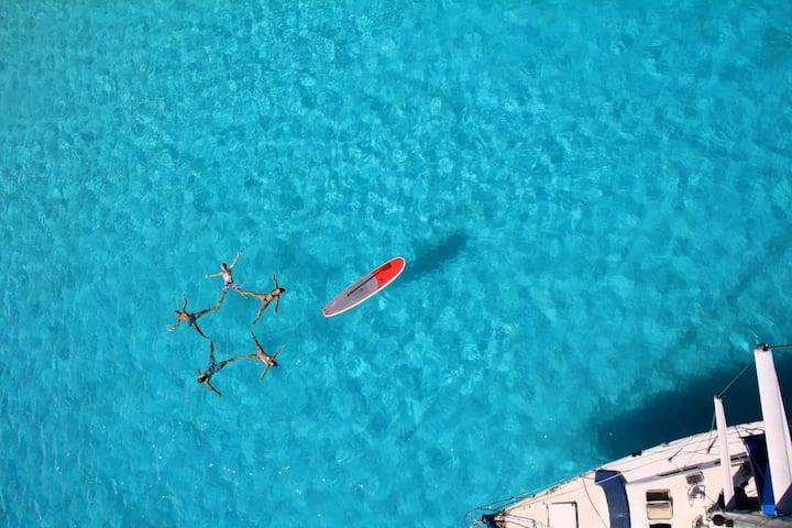 Dans le lagon de Bora Bora